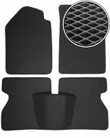 Коврики в салон для Renault Kangoo '03-09, EVA-полимерные, черные (Kinetic)