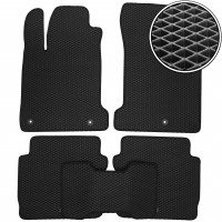 Коврики в салон для Renault Latitude '10-15, EVA-полимерные, черные (Kinetic)