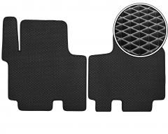 Коврики в салон передние для Renault Trafic '01-14, EVA-полимерные, черные (Kinetic)