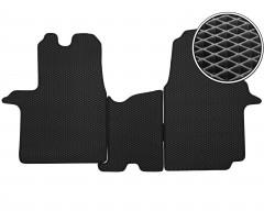 Коврики в салон передние для Renault Trafic '15-, EVA-полимерные, черные (Kinetic)