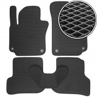 Коврики в салон для Seat Altea / Altea XL / Freetrack '07-15, EVA-полимерные, черные (Kinetic)