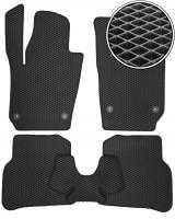 Коврики в салон для Seat Ibiza '08-17, EVA-полимерные, черные (Kinetic)