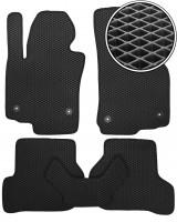 Коврики в салон для Seat Leon '05-12, EVA-полимерные, черные (Kinetic)