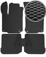 Коврики в салон для Seat Toledo '99-04, EVA-полимерные, черные (Kinetic)