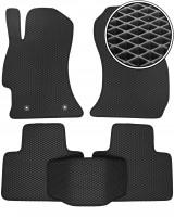 Коврики в салон для Subaru Forester '13-18, EVA-полимерные, черные (Kinetic)