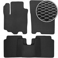Коврики в салон для Suzuki SX4 '13-, EVA-полимерные, черные (Kinetic)