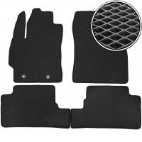 Коврики в салон для Toyota Auris '06-12, EVA-полимерные, черные (Kinetic)