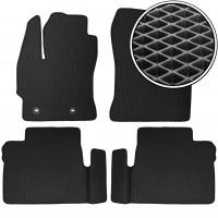 Коврики в салон для Toyota Corolla с 2013-, EVA-полимерные, черные (Kinetic)