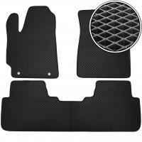 Коврики в салон для Toyota Highlander '07-13, EVA-полимерные, черные (Kinetic)