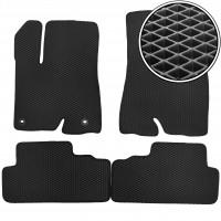Коврики в салон для Toyota Highlander '14-, EVA-полимерные, черные (Kinetic)