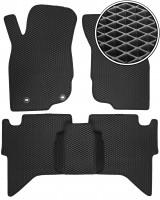 Коврики в салон для Toyota Hilux '05-15, EVA-полимерные, черные (Kinetic)