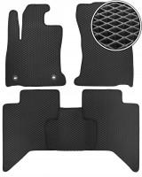 Коврики в салон для Toyota Hilux '15-, EVA-полимерные, черные (Kinetic)