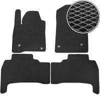 Коврики в салон для Toyota Land Cruiser 200 '07-12, EVA-полимерные, черные (Kinetic)