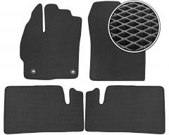Коврики в салон для Toyota Prius '12-15, EVA-полимерные, черные (Kinetic)