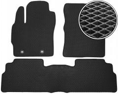 Коврики в салон для Toyota Verso '13-, EVA-полимерные, черные (Kinetic)