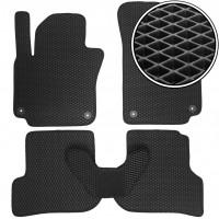 Коврики в салон для Volkswagen Golf Plus VI '09-14, EVA-полимерные, черные (Kinetic)