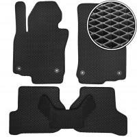 Коврики в салон для Volkswagen Golf VI '09-12, EVA-полимерные, черные (Kinetic)