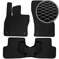 Коврики в салон для Volkswagen Golf VII '12-, EVA-полимерные, черные (Kinetic)