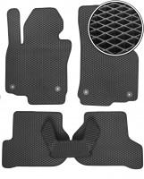 Коврики в салон для Volkswagen Jetta V '06-10, EVA-полимерные, черные (Kinetic)