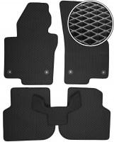Коврики в салон для Volkswagen Jetta VI '10-, EVA-полимерные, черные (Kinetic)