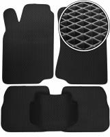Коврики в салон для Volkswagen Passat B3/B4 '88-96, EVA-полимерные, черные (Kinetic)