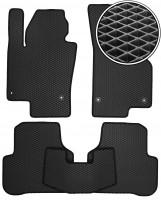 Коврики в салон для Volkswagen Passat B7 '10-14, EVA-полимерные, черные (Kinetic)