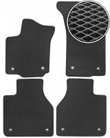 Коврики в салон для Volkswagen Phaeton '02-16 long, EVA-полимерные, черные (Kinetic)