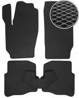 Коврики в салон для Volkswagen Polo '02-09, EVA-полимерные, черные (Kinetic)