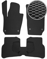Коврики в салон для Volkswagen Polo '09-17 хетчбек, EVA-полимерные, черные (Kinetic)