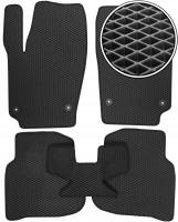 Коврики в салон для Volkswagen Polo '10- седан, EVA-полимерные, черные (Kinetic)