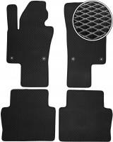Коврики в салон для Volkswagen Sharan '10-, EVA-полимерные, черные (Kinetic)