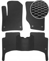 Коврики в салон для Volkswagen Touareg '02-09, EVA-полимерные, черные (Kinetic)