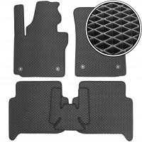 Коврики в салон для Volkswagen Touran '10-15, EVA-полимерные, черные (Kinetic)