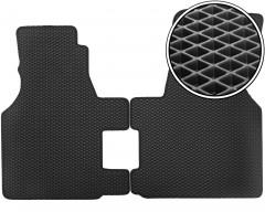 Kinetic Коврики в салон передние для Volkswagen Transporter T4 '90-03, EVA-полимерные, черные (Kinetic)