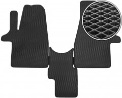 Коврики в салон передние для Volkswagen Transporter T6 '15- 1+1, EVA-полимерные, черные (Kinetic)