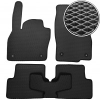 Коврики в салон для Volkswagen Polo '17-, EVA-полимерные, черные (Kinetic)