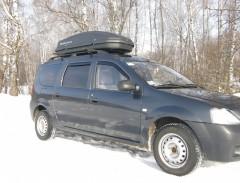 Бокс Десна-Авто 480 л черный, двухостороннее открытие