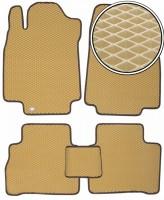 Коврики в салон для Nissan Tiida '05-14, EVA-полимерные, бежевые (Kinetic)