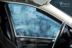 Дефлекторы окон для Hyundai Accent (Solaris) '11-17 хэтчбек, литьевой поликарбонат (Vinguru)