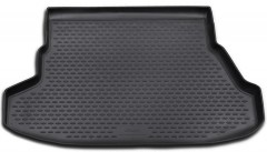 Коврик в багажник для Hyundai Coupe '02-09, полиуретановый (Novline / Element) черный