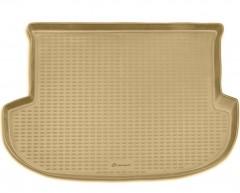 Коврик в багажник для Hyundai Santa Fe '10-12 CM (5 мест), полиуретановый (Novline / Element) бежевый