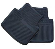 Коврики в салон задние для Skoda Superb '15-, резиновые, черные (VAG-Group) 3V0061551