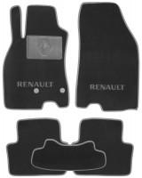Коврики в салон для Renault Megane 3 '08-16, универсал, текстильные, серые (Люкс)