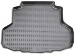 Коврик в багажник для Mitsubishi Lancer 9 (IX) '04-09 седан, полиуретановый (Novline / Element) черный