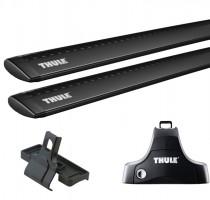 Багажник Kia Soul '09-13 на гладкую крышу Thule WingBar 969, черный