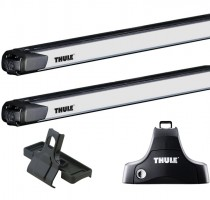 Багажник Kia Soul '09-13 на гладкую крышу Thule SlideBar 892, дуга с функцией движения