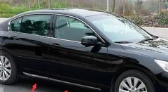 Накладки (молдинги) на двери для Honda Accord 9 '13-, хром, нержавеющая сталь, тип D (ASP)