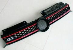Решетка радиатора для Volkswagen Golf VI '09-12, стиль GTI (ASP)
