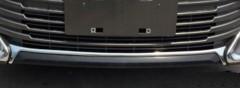 Накладка на передний бампер для Toyota Camry V55 2011 - 2017, хром, верхняя (ASP)