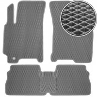 Коврики в салон для Chevrolet Lacetti '03-12 SDN/HB, EVA-полимерные, серые (Kinetic)